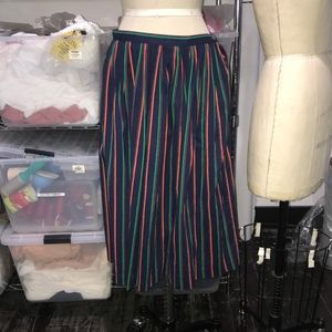 Vintage Full colorful Striped Skirt
